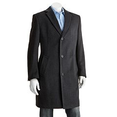 Men's Jean-Paul Germain Classic-Fit 38 in Wool-Blend Top Coat