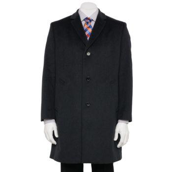 Men's Jean-Paul Germain Classic-Fit 38-in. Wool-Blend Top Coat