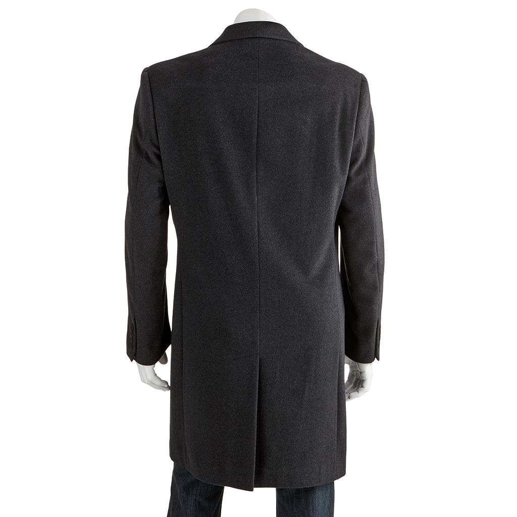 Men's Jean-Paul Germain Classic-Fit 38-in. Wool-Blend Top Coat