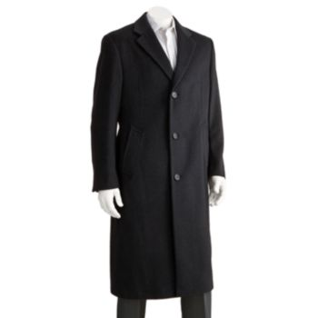 Men's Jean-Paul Germain Classic-Fit 45-in. Wool-Blend Top Coat