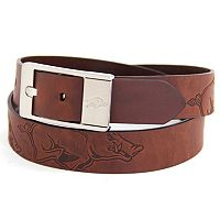 Men's Arkansas Razorbacks Brandish Leather Belt
