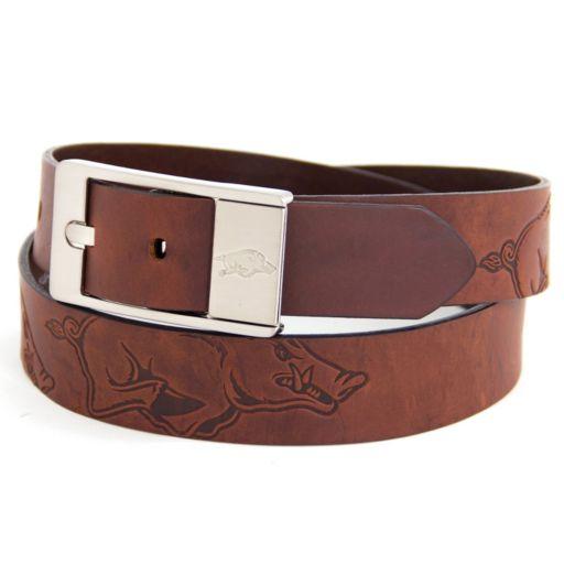 Men's Arkansas Razorbacks Brandish Leather Belt