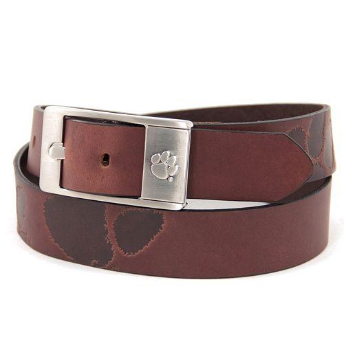 Men's Clemson Tigers Brandish Leather Belt