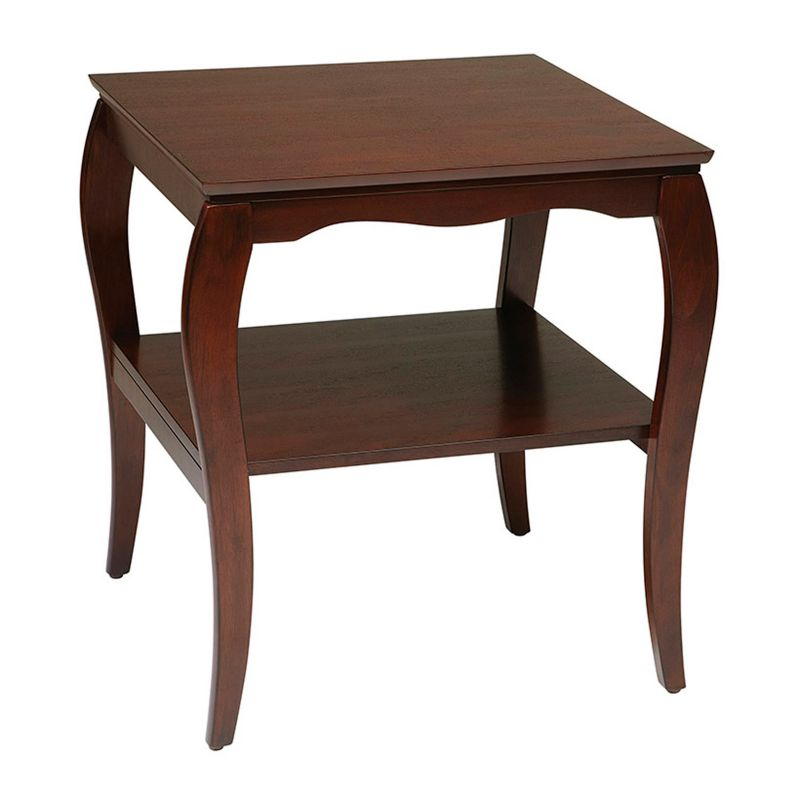 Office Star Products End Table, Brown