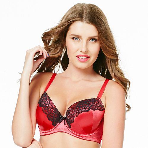 f6533094f9 Perfects Australia Bra  Eliza Curve It Up Satin Lace Balconette T-Shirt Bra  14UBR97 - Women s