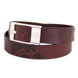 Men's Iowa Hawkeyes Brandish Leather Belt