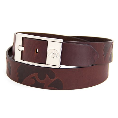 Men's Iowa Hawkeyes Brandish Leather Belt