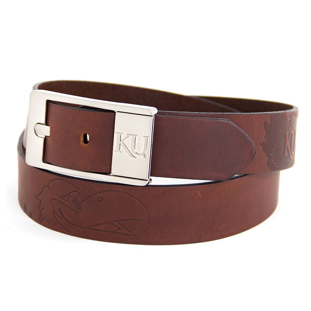 Men's Kansas Jayhawks Brandish Leather Belt