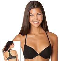 Juniors' SO® Bra: Gimme A Boost Lace Front-Closure Push-Up Racerback Bra