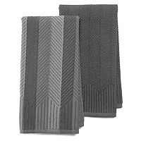 Deals on 2-Pack  Food Network Chevron Kitchen Towel