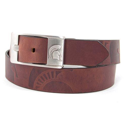 Men's Michigan State Spartans Brandish Leather Belt
