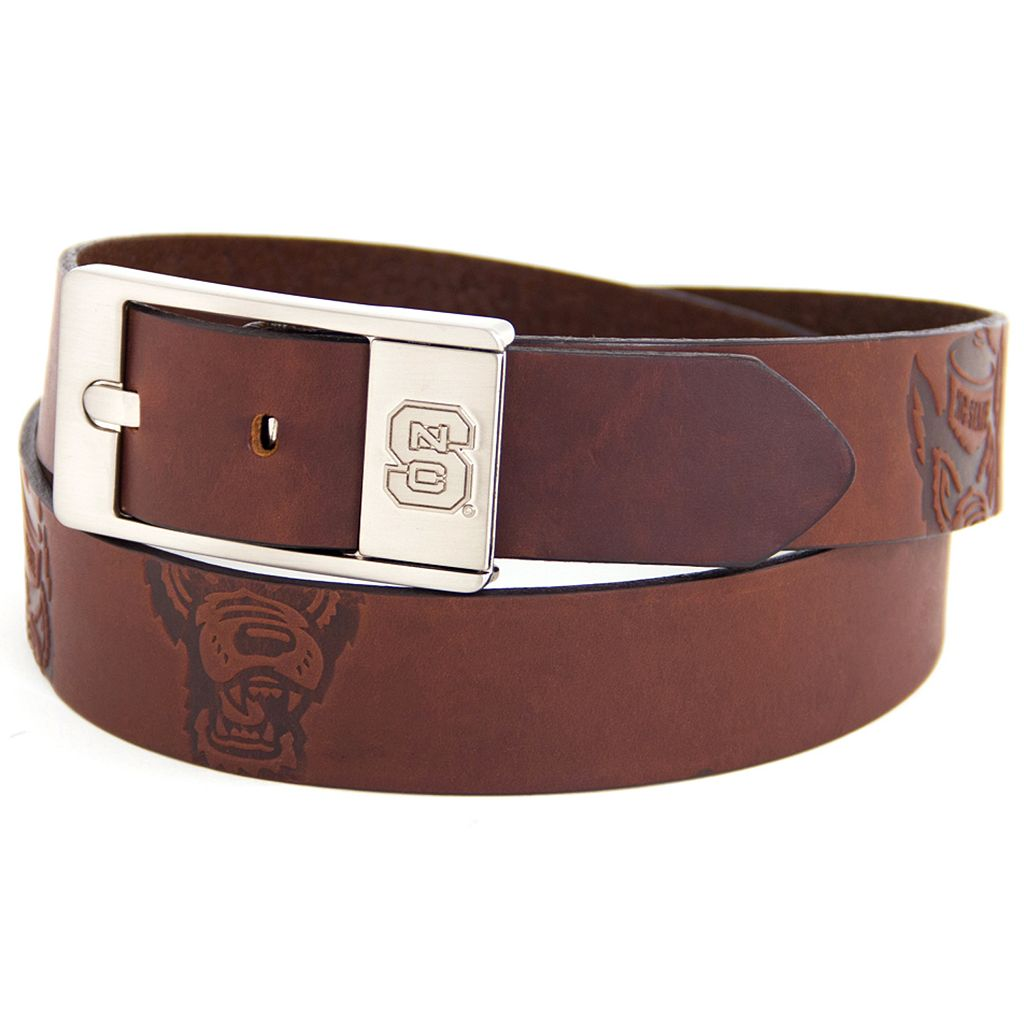 Men's North Carolina State Wolfpack Brandish Leather Belt