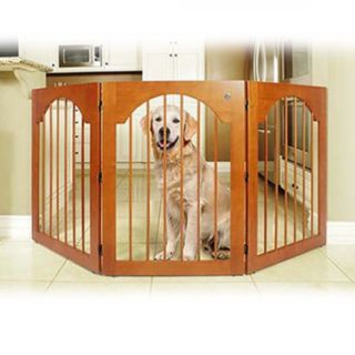 Majestic Pet Universal Free-Standing Wood Pet Gate