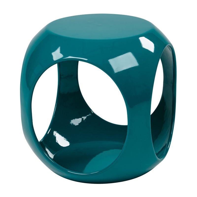 Avenue Six Slick Cube End Table, Blue