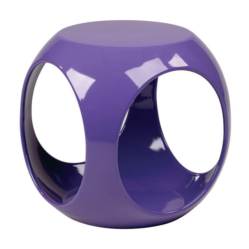 Avenue Six Slick Cube End Table, Purple