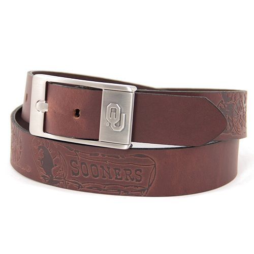 Men's Oklahoma Sooners Brandish Leather Belt