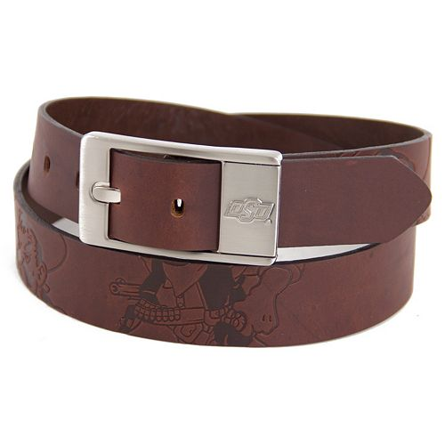 Men's Oklahoma State Cowboys Brandish Leather Belt