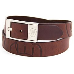 Men's Milwaukee Brewers Brandish Leather Belt