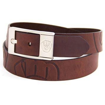 Men's Milwaukee Brewers Brandish Leather Belt