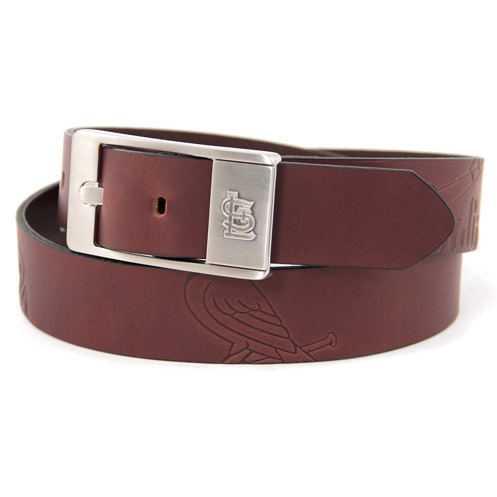 Men's St. Louis Cardinals Brandish Leather Belt