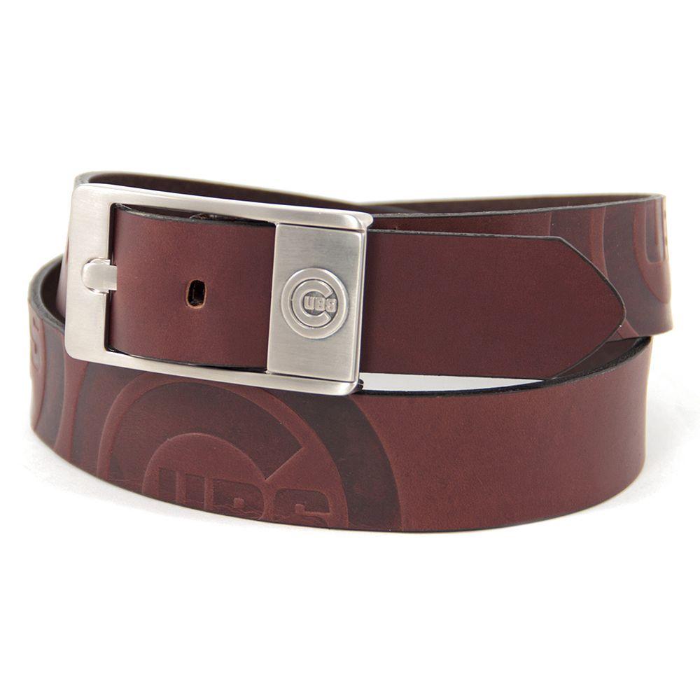 Men's Chicago Cubs Brandish Leather Belt