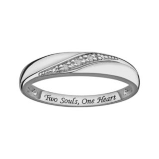 Sweet Sentiments Sterling Silver Diamond Accent Ring
