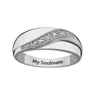 Sweet Sentiments Sterling Silver Diamond Accent Band - Men
