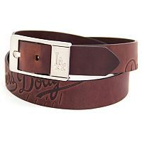 Men's Los Angeles Dodgers Brandish Leather Belt