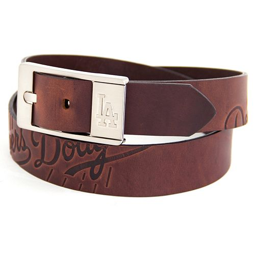 Men's Los Angeles Dodgers Brandish Leather Belt