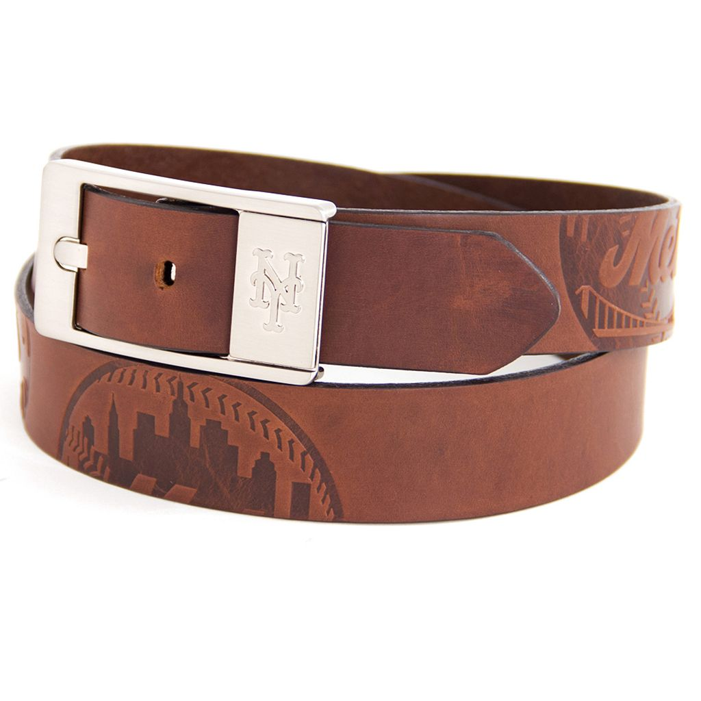 Men's New York Mets Brandish Leather Belt
