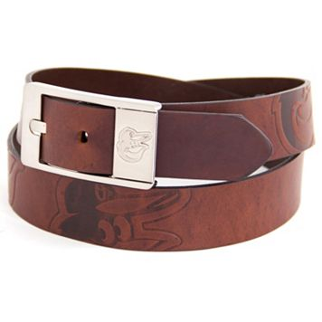 Men's Baltimore Orioles Brandish Leather Belt