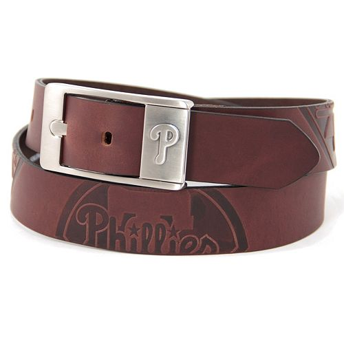 Men's Philadelphia Phillies Brandish Leather Belt