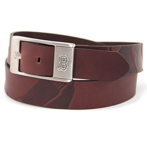 Men's Boston Red Sox Brandish Leather Belt