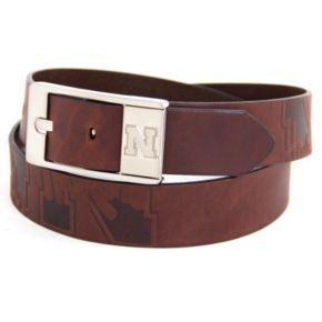 Men's Nebraska Cornhuskers Brandish Leather Belt