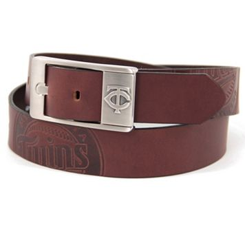 Men's Minnesota Twins Brandish Leather Belt