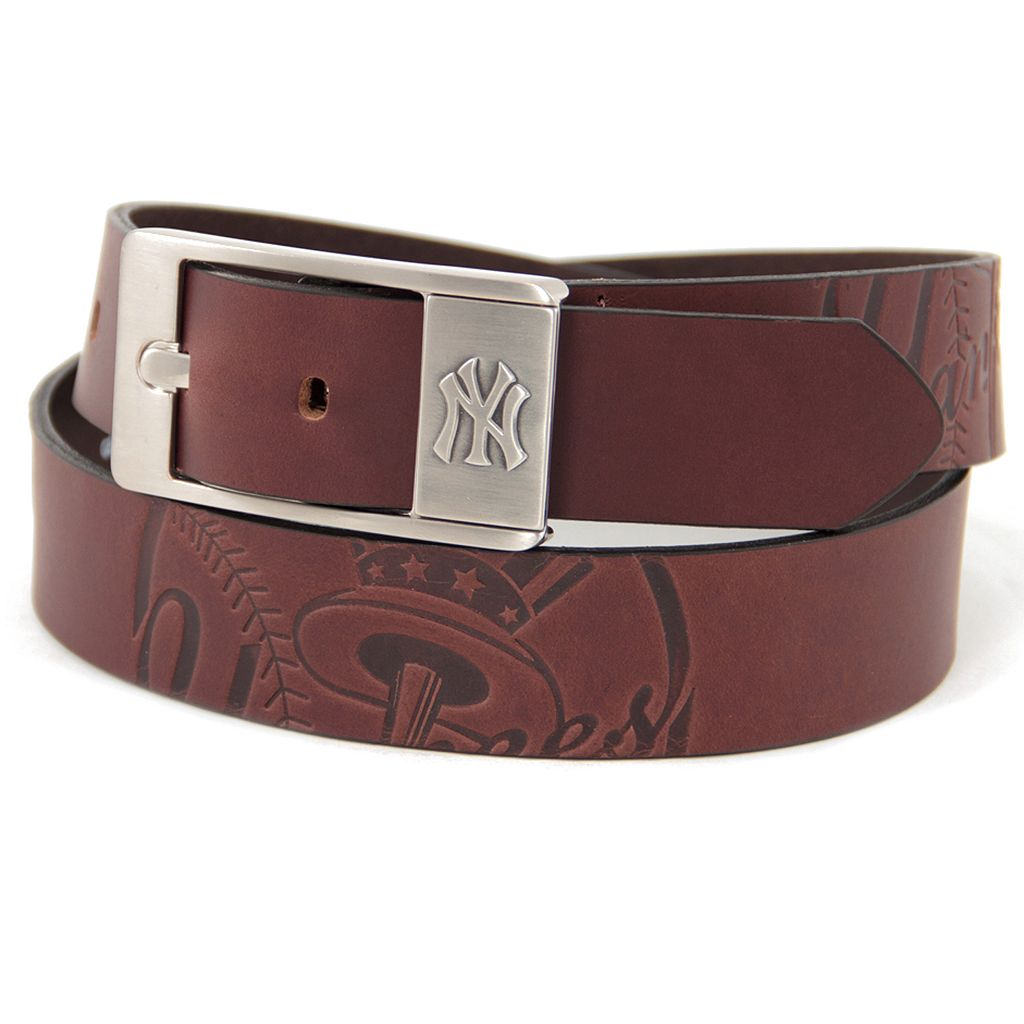 Men's New York Yankees Brandish Leather Belt