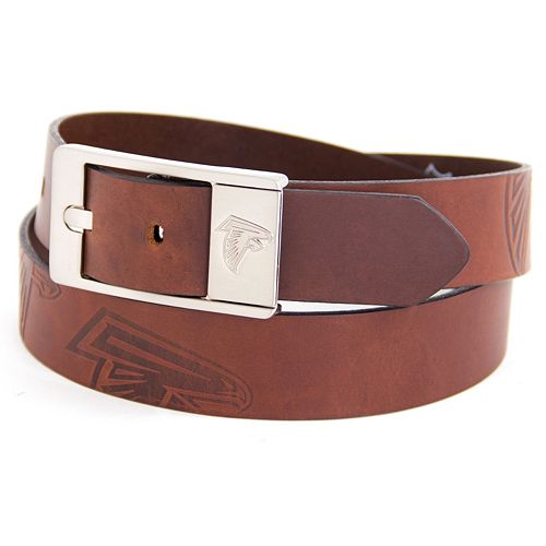 Men's Atlanta Falcons Brandish Leather Belt