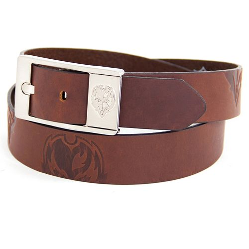 Men's Baltimore Ravens Brandish Leather Belt