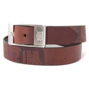 Men's Detroit Tigers Brandish Leather Belt