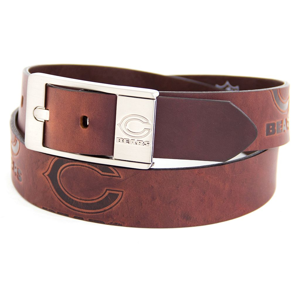 Men's Chicago Bears Brandish Leather Belt