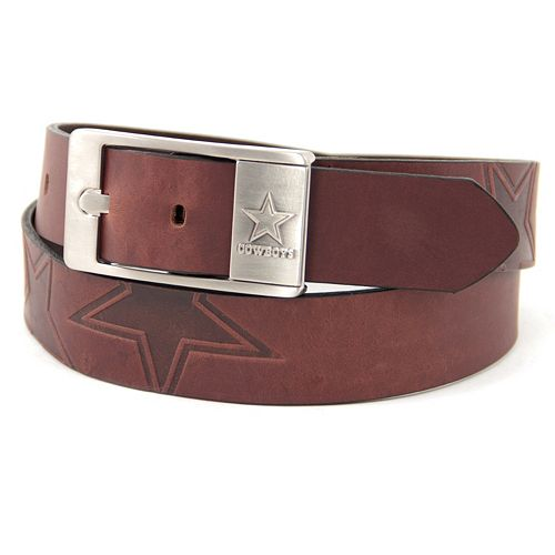 Men's Dallas Cowboys Brandish Leather Belt