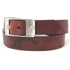 Men's Detroit Lions Brandish Leather Belt