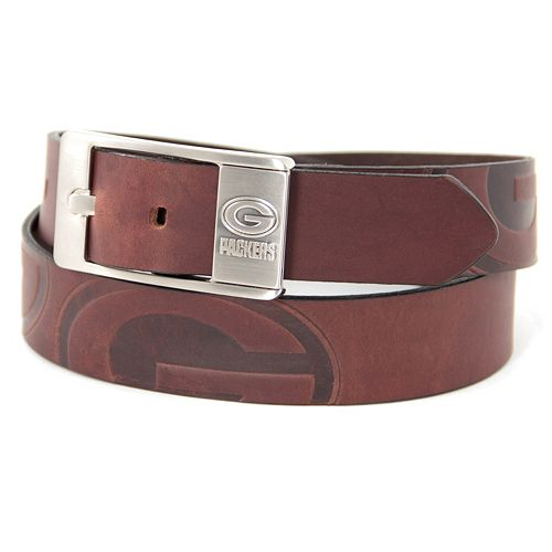 Men's Green Bay Packers Brandish Leather Belt