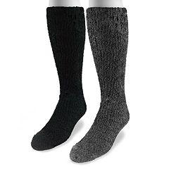 MUK LUKS 2-pk. Micro Chenille Crew Socks - Men