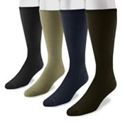 Men's MUK LUKS 4 pkRayon From Bamboo Knee-High Socks