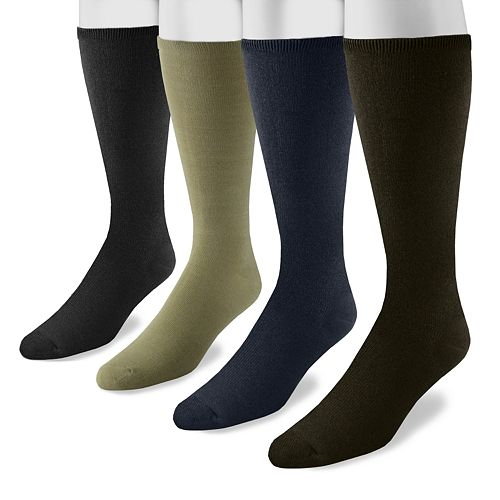 Men's MUK LUKS 4-pk. Rayon From Bamboo Knee-High Socks