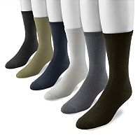Men's MUK LUKS 6-pk. Rayon From Bamboo Quarter Socks