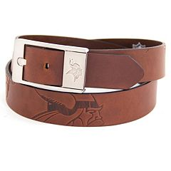 Men's Minnesota Vikings Brandish Leather Belt