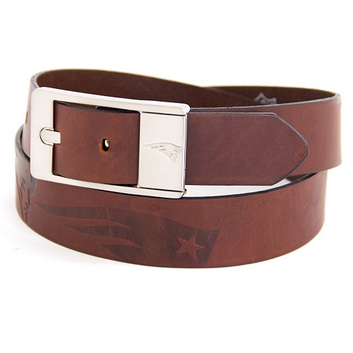 Men's New England Patriots Brandish Leather Belt