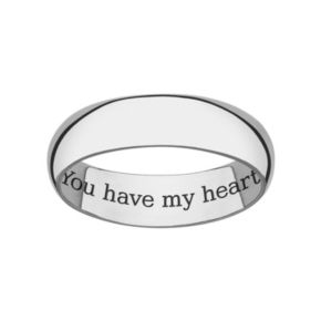 Sweet Sentiments Sterling Silver Wedding Band